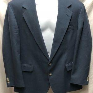 Haggar Mens Sz 44 Suit Coat Jacket Blazer 2 Butto